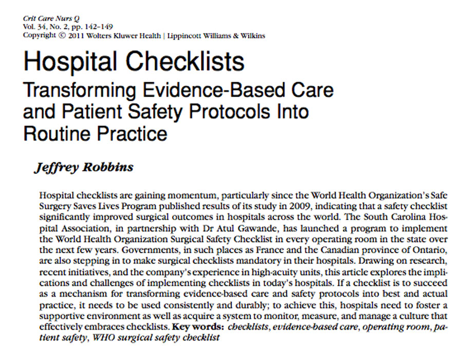 patient concern personal safety essay Reports and white papers important patient safety issues: a number of different medical staff may be take part in the care of a single patient.